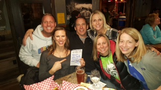 Team building with other presenters during Trivia Night at the HA Brewery. Yeah - we happened to win! :)