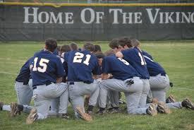 baseball huddle